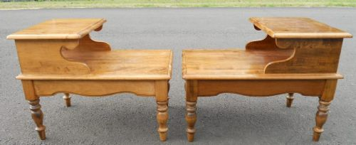Pair Pine Lamp Tables